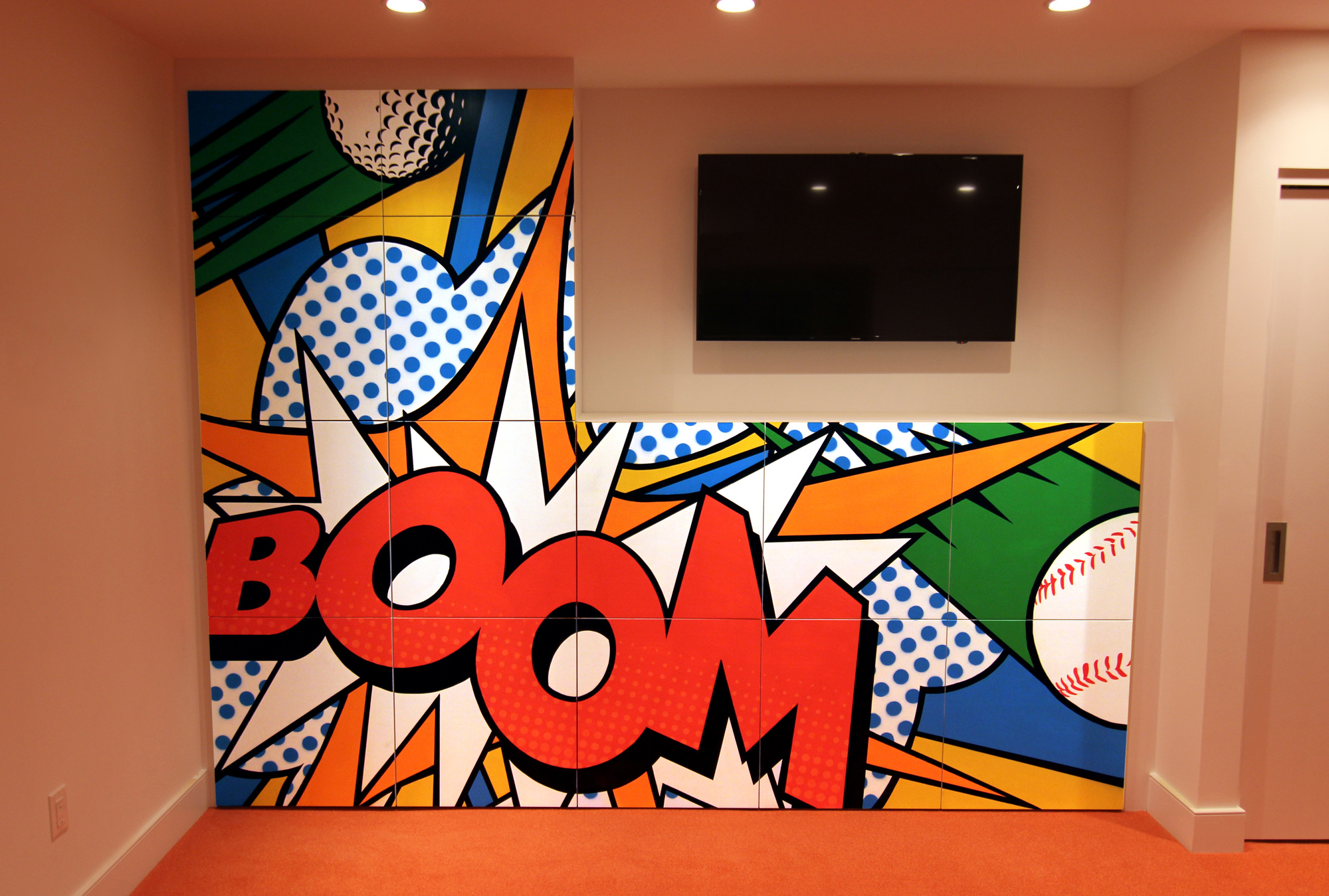 Baseball Wall Mural Pop Art Mural Your Custom Mural Specialists