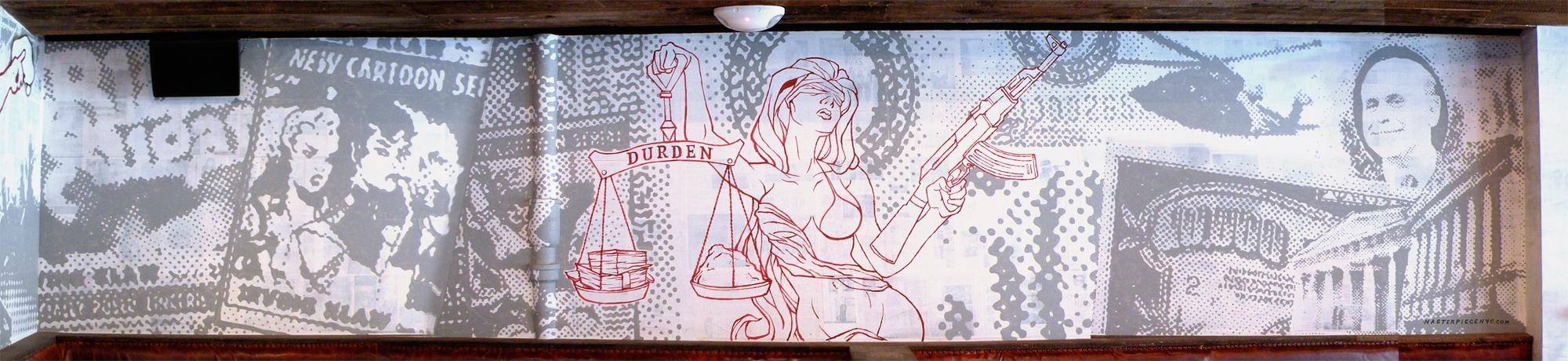 Bar mural, graffiti mural, street art mural, graffiti, street art, custom mural, hire a graffiti artist
