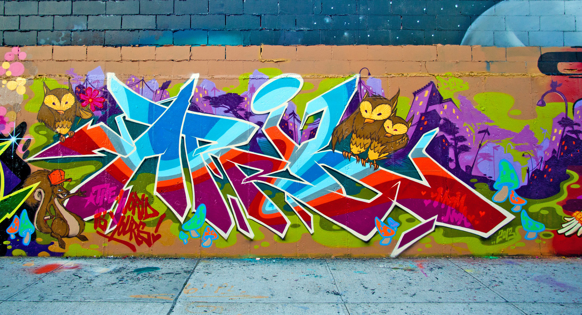 Custom graffiti murals custom mural specialists for Custom photo mural
